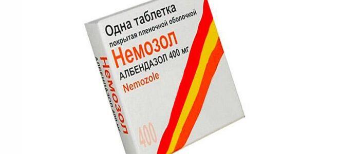 Таблетки Немозол от глистов: состав, способы применения
